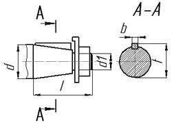 Размеры конических валов планетарных мотор-редукторов 3МП
