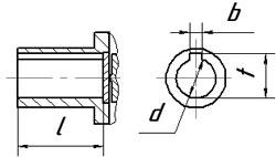 Размеры полых валов планетарных мотор-редукторов 3МП