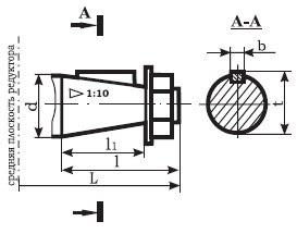 Редуктор ВК-475: размеры входного валов