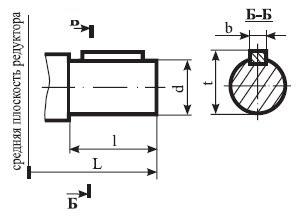 Редуктор ВК-475: размеры выходного валов
