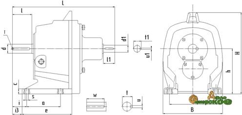 Редуктор 1Ц2С-80